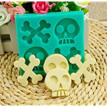 Halloween Skeleton Silicone Cake Mold Skull Bone Pudding Jelly Chocolate Baking Mould