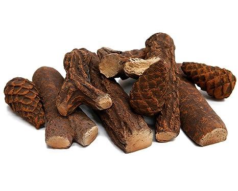 Elegant 9 Teiliges Keramikholz Set Für Ihren Bio Ethanol Kamin Oder Gelkamin  Keramik Holz: Amazon.de: Baumarkt