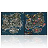Beyme Extended PUBG Gaming Mouse Pad Large Computer Desk Pad Anti-slip Rubber Base Stitched Edges (80X40 Chicken Map)