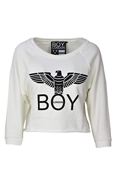 Boy London Mujer Bld1508wht Blanco Algodon Sudadera: Amazon.es: Ropa y accesorios
