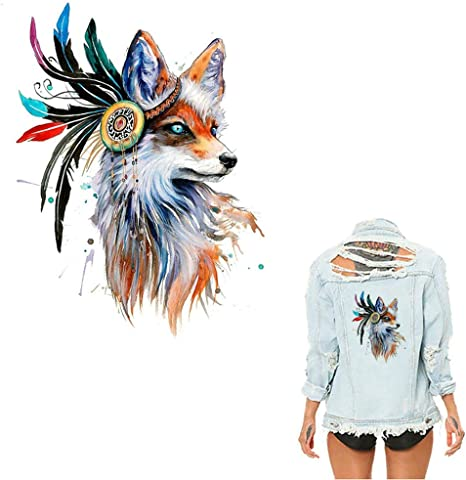 Wolf Patches Irons on Stickers DIY Heat Transfer Patches T-shirt Applique DecoWR