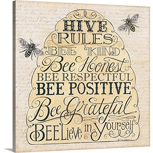 Deb Strain Premium Thick-Wrap Canvas Wall Art Print Entitled Hive Rules 16