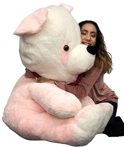 Amazon.com: Oso de peluche rosa grande, gigante de 53.9 in ...