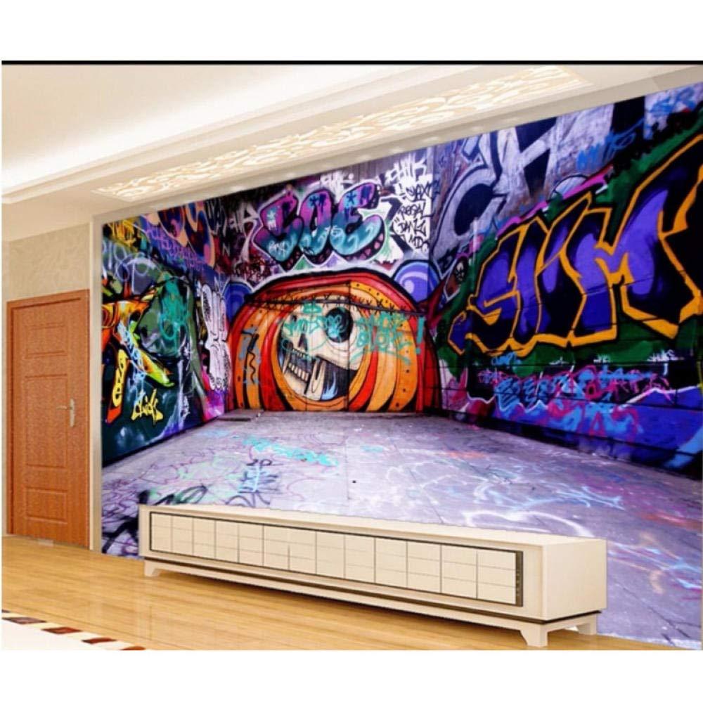 Lixiaoer 3d壁画カスタマイズストリートアートカラフルな落書きの壁紙