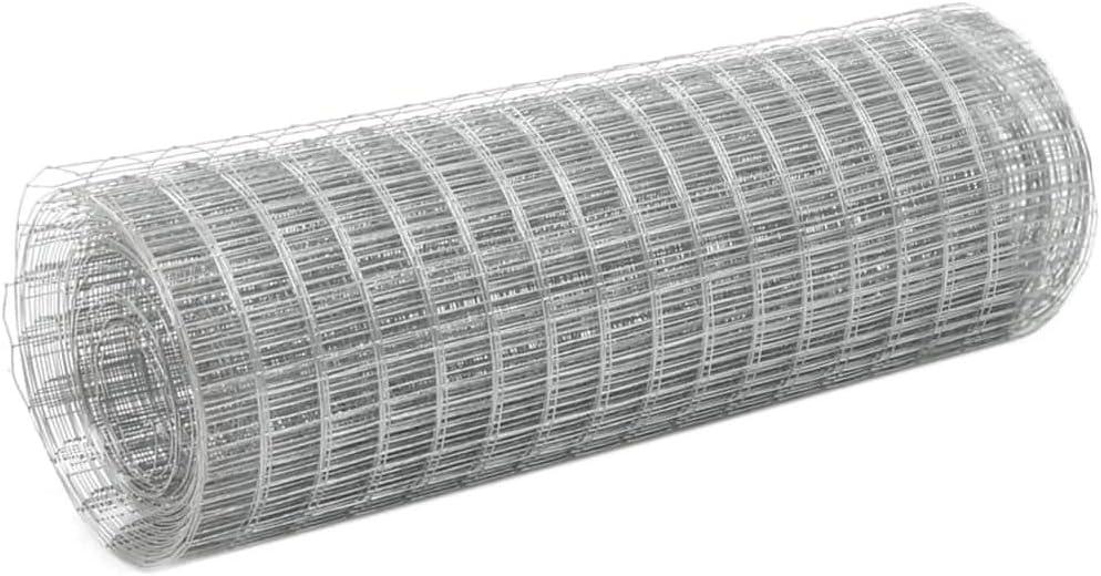 und wetterfest Maschenweite 25x25mm, 10x1,5m UnfadeMemory Maschendraht Verzinkter Stahl Maschendrahtzaun mit Quadratischen Maschen Drahtgeflecht Silbern Stahldraht Geflecht Drahtgitter Wasser