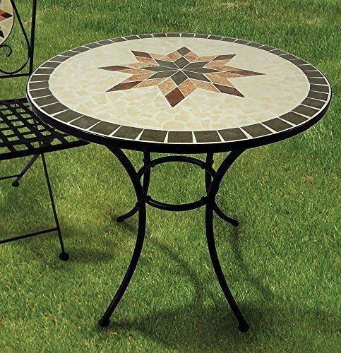 Gartentisch Constanza Mosaik Möbel im Mediterrane Stil Tisch Rund 70 cm