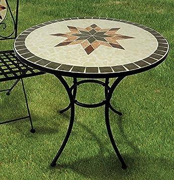 Gartentisch Constanza Mosaik Mobel Im Mediterrane Stil Tisch Rund