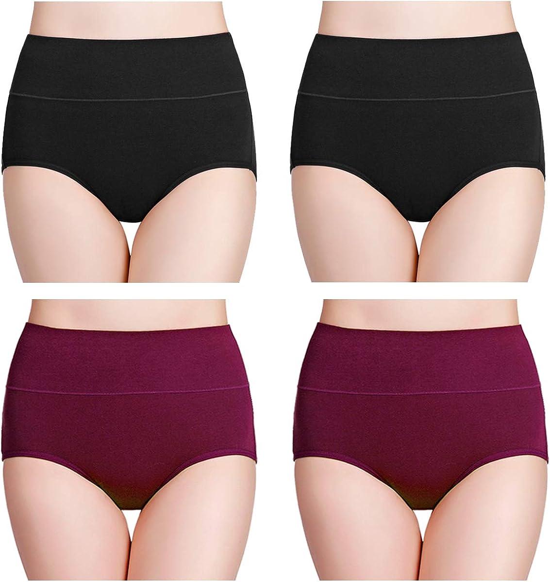 wirarpa Damen Unterhosen Baumwolle Slip Damen High Waist Taillenslip Wochenbett Unterw/äsche Kaiserschnitt Unterhose Mehrpack