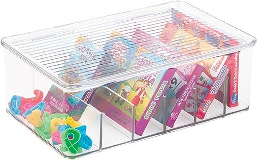 mDesign Caja para Guardar Juguetes - Caja con Tapa para ...