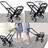 Superland Stair Climbing Cart Portable 330LBS Capacity Folding Stair Hand Truck 30 Inch Folded Height with 2 Backup Wheels