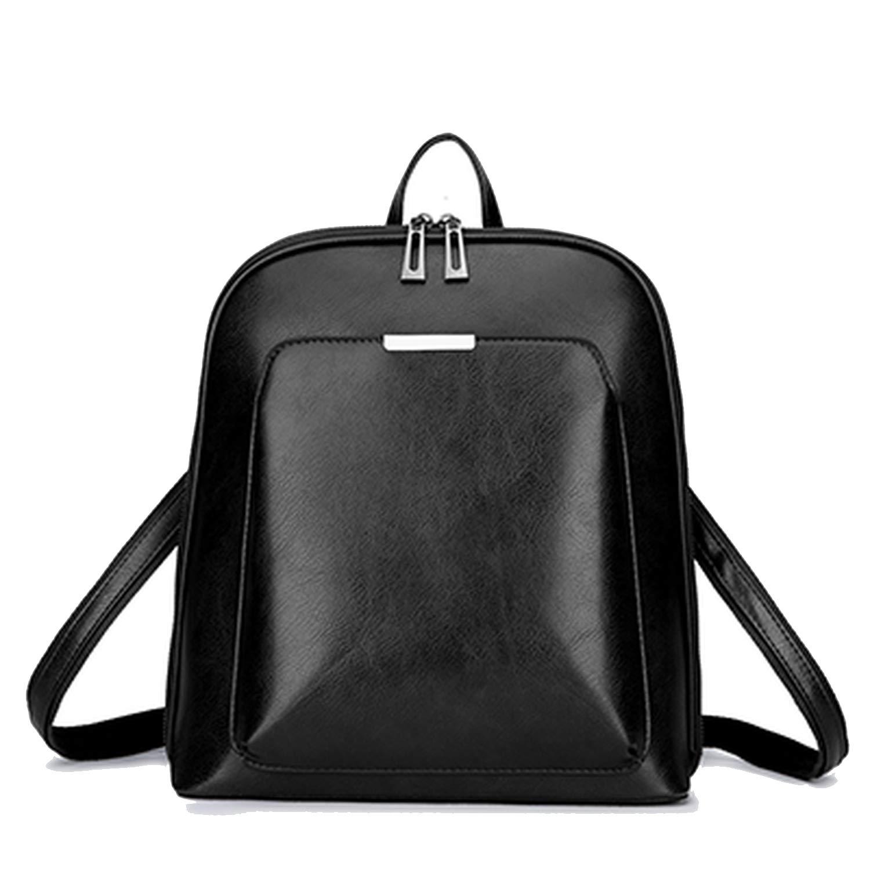 Amazon.com | Vintage Women Backpack School Bags for Teenage Girls Shoulder Bag Female Oil Wax Leather Backpacks Mochilas Mujer Bagpack, brown | Backpacks