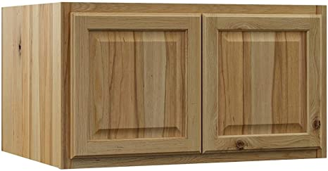Amazon Com Hampton Bay Hampton Assembled 36x18x24 In Above Refrigerator Deep Wall Bridge Kitchen Cabinet In Natural Hickory Kitchen Dining