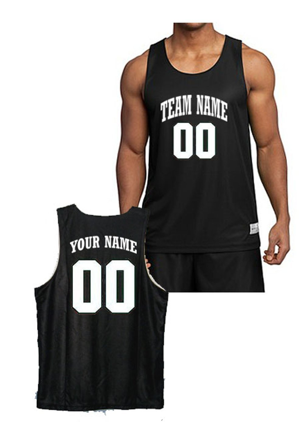 290d8dc3b03 Amazon.com   Custom Basketball Jersey-- Front   Back Team Name   Number    Sports   Outdoors