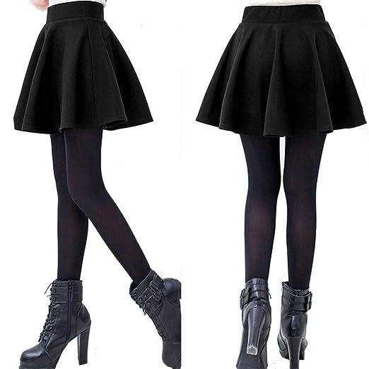 50ee2c99025e ECYC® Women's Stretch Waist Plain Flared Pleated Mini Skirt Basic Skater  Skirt at Amazon Women's Clothing store: