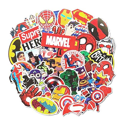 Price comparison product image Marvel & DC Decal Stickers 50 PCS Laptop Sticker Waterproof Vinyl Stickers Car Sticker Motorcycle Bicycle Luggage Decal Graffiti Patches Skateboard Stickers