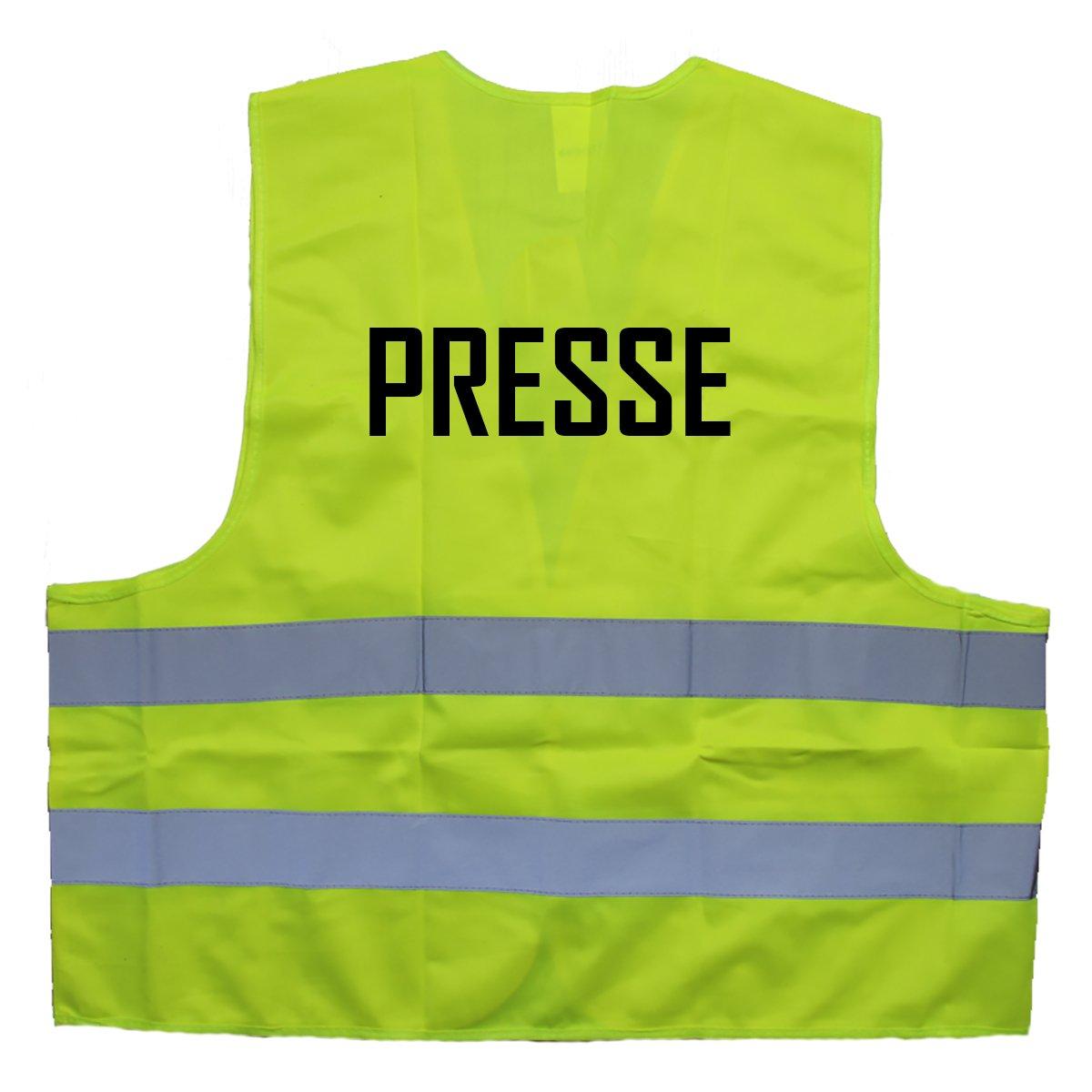 Cre9tive Warnweste Presse Gilet/ /Taille Unique jusqu/à XXL