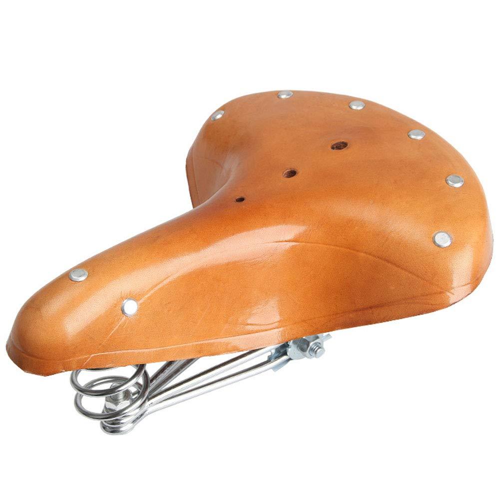 Joyfitness Almohadilla de Asiento de sillín de Bicicleta de Cuero ...
