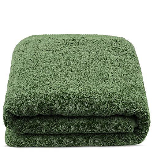 TURKUOISE TURKISH TOWEL Turkuoise Premium Quality Bath Sheet, Extra Large, 100% Turkish Cotton (Moss, 40x80 Inches)