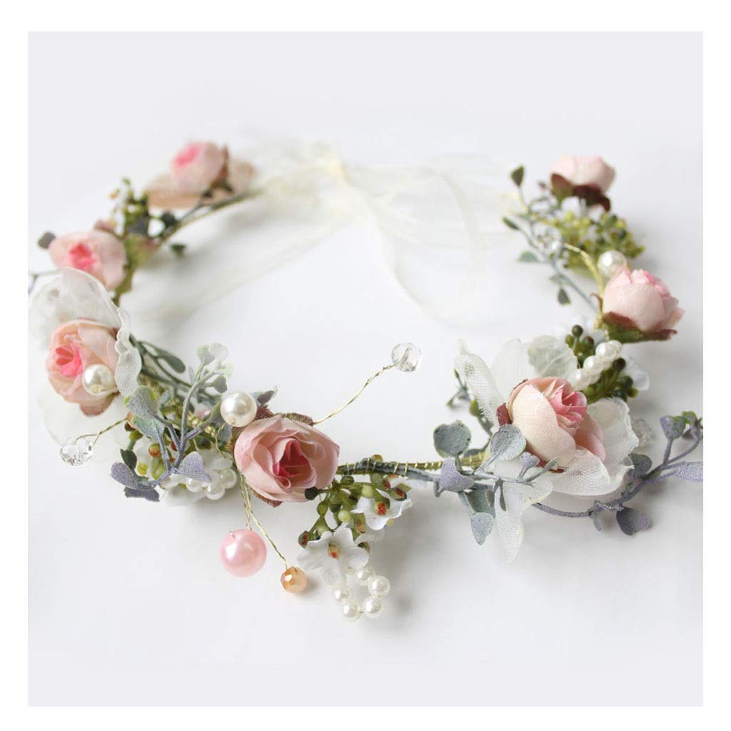 Wreath Children's Garland Headwear Hair Accessories Girls New Year Hairpin Princess Performance Wedding Accessories by Wreath