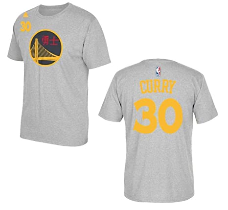 38a7d813b adidas Stephen Curry Golden State Warriors Youth Grey Chinese New Year Name  and Number T-