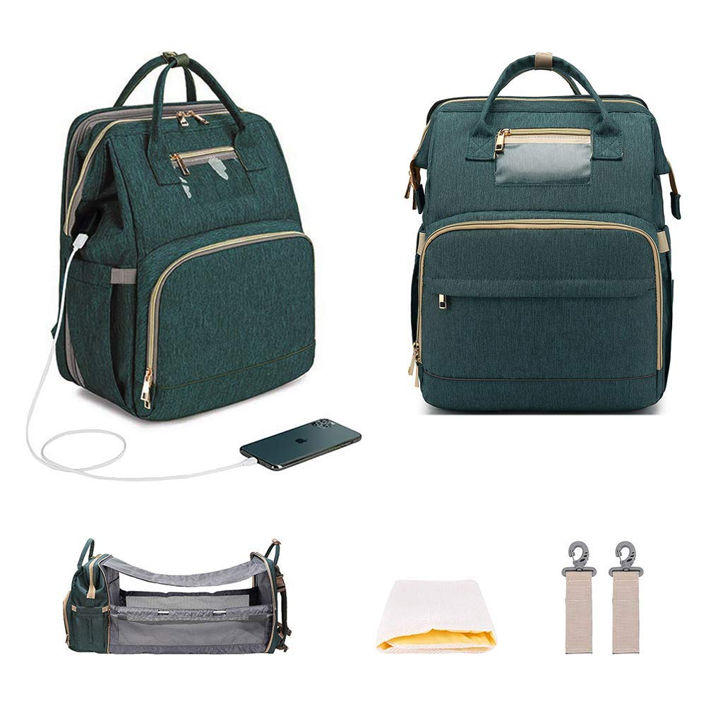 Amazon Promo Code for Diaper Bag Backpack Mom Dad with Changing Bed