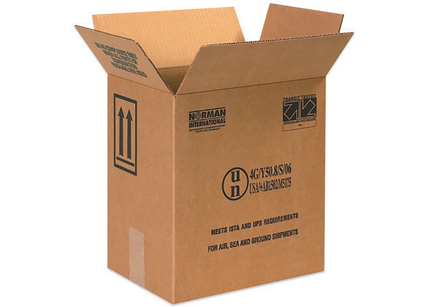 RetailSource B110812HM560 Hazmat Box, 12.375'' Height, 8.1875'' Width, 11.375'' Length, Brown (Pack of 560)