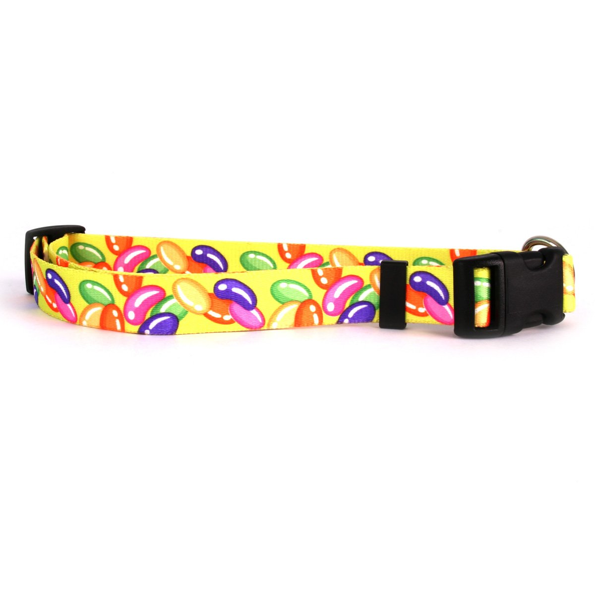 Yellow Dog Design Jelly Beans Dog Collar 3/4'' Wide and Fits Neck 10 to 14'', Small