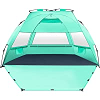 MIRUS Deluxe XL Pop Up Beach Tent Sun Shade Shelter for 3-4 Person, UV Protection, Extendable Floor with 3 Ventilating…