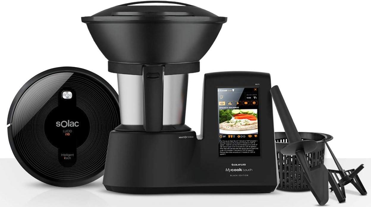 Taurus Mycook Touch Black Edition + Solac Lucid I10 Robot Aspirador: Amazon.es: Hogar