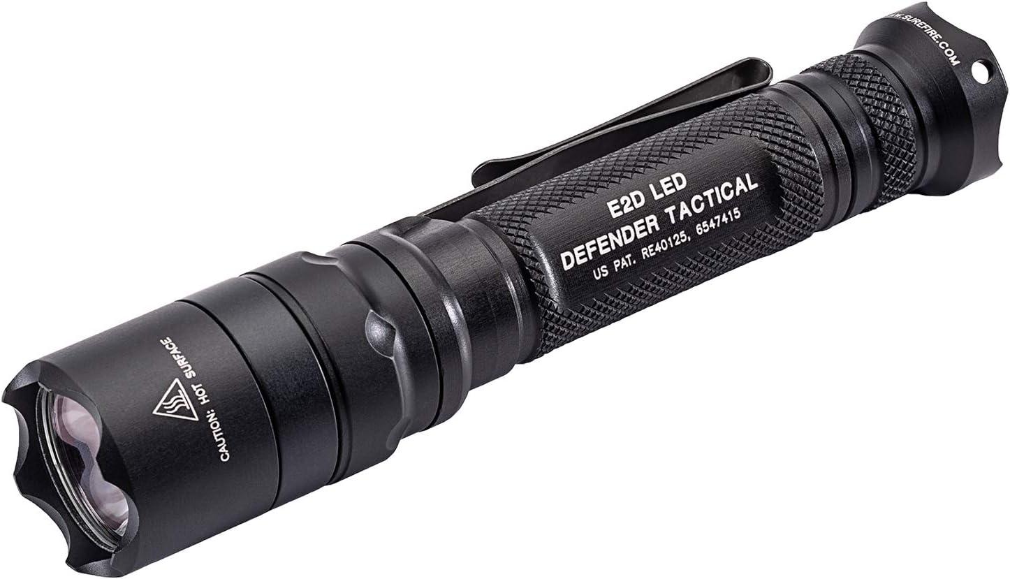 SUREFIRE シュアファイア E2D DEFENDER TACTICAL LED Flashlight 1000lm E2DLU-T ディフェンダー タクティカル フラッシュライト 1000ルーメン 懐中電灯 日常携帯 黒 E2DLUT [並行輸入品]