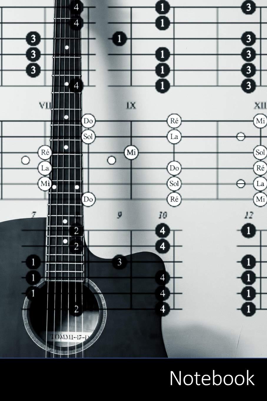 Notebook: Temática de la música portátil para niños y adultos. Acordes de la guitarra, guitarra, acordes, acordes Cuaderno / Diario / Libro de ... 22.86 cm , 150 páginas, superficie brillante.: Amazon.es:
