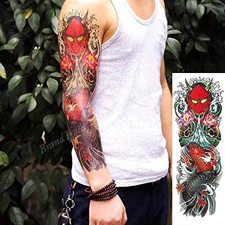 Autocollant De Tatouage Temporaire Pour Art Corporel Japonais Oni Demon Autocollant Tatouage Amazon Fr Beaute Et Parfum