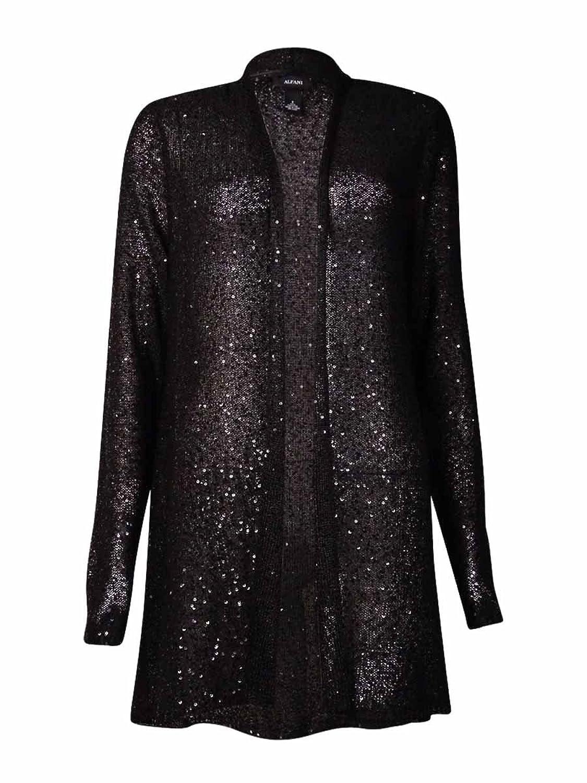 Alfani Women's Sequin Embellished Open Cardigan