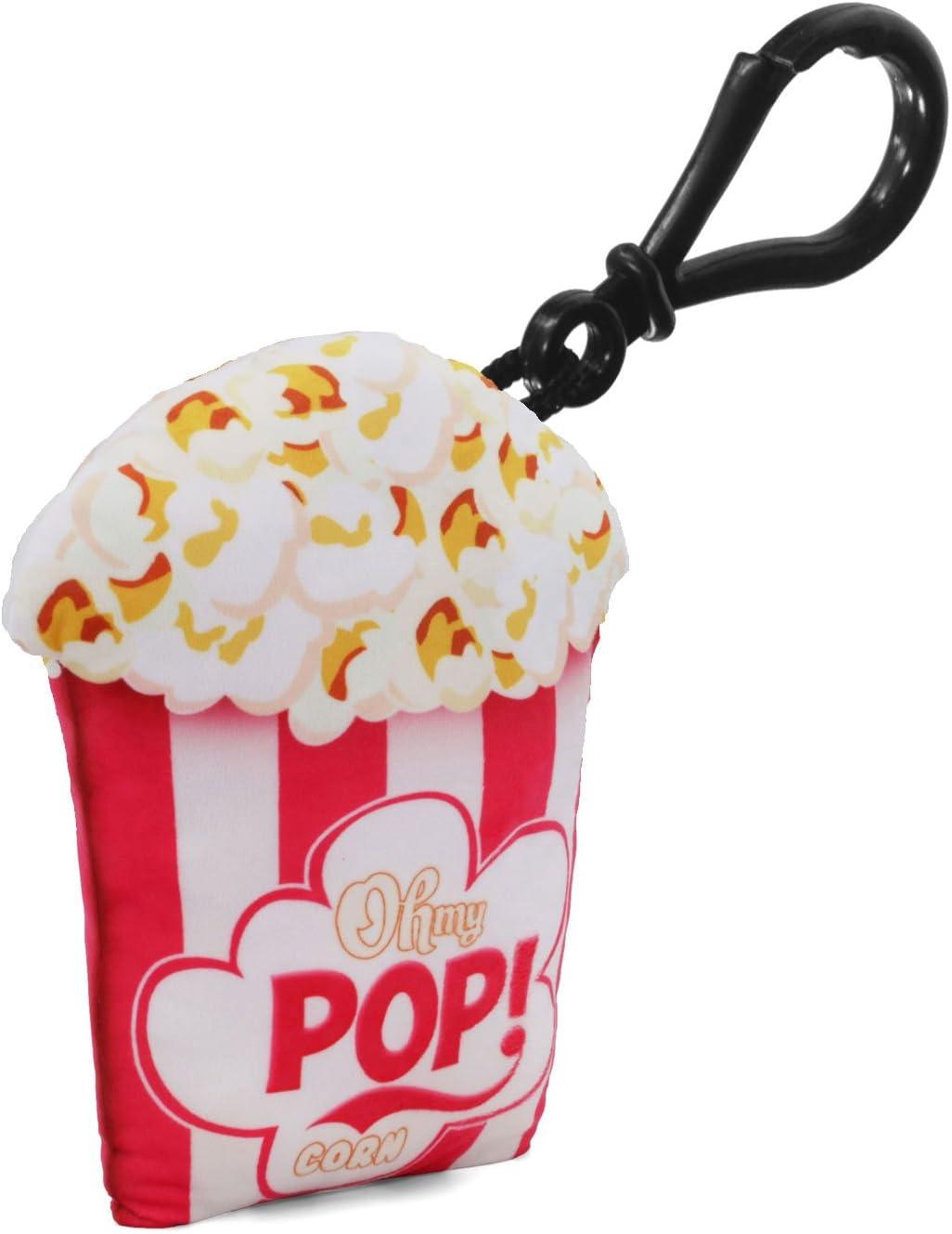 Bianco White 8 cm Oh My Pop Pop Crunchy-Pillow Keyring Portachiavi ad anello e catena