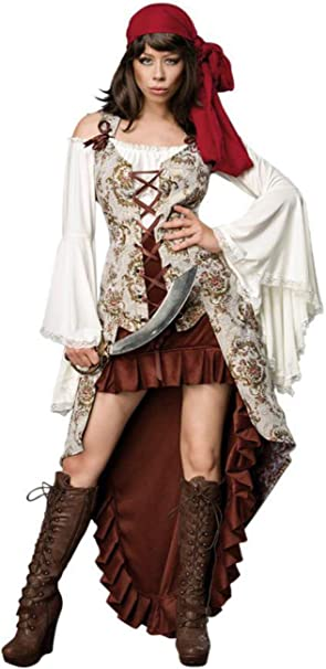 Máscara Paradise Disfraz Completo de Novia Pirata M para Mujer ...