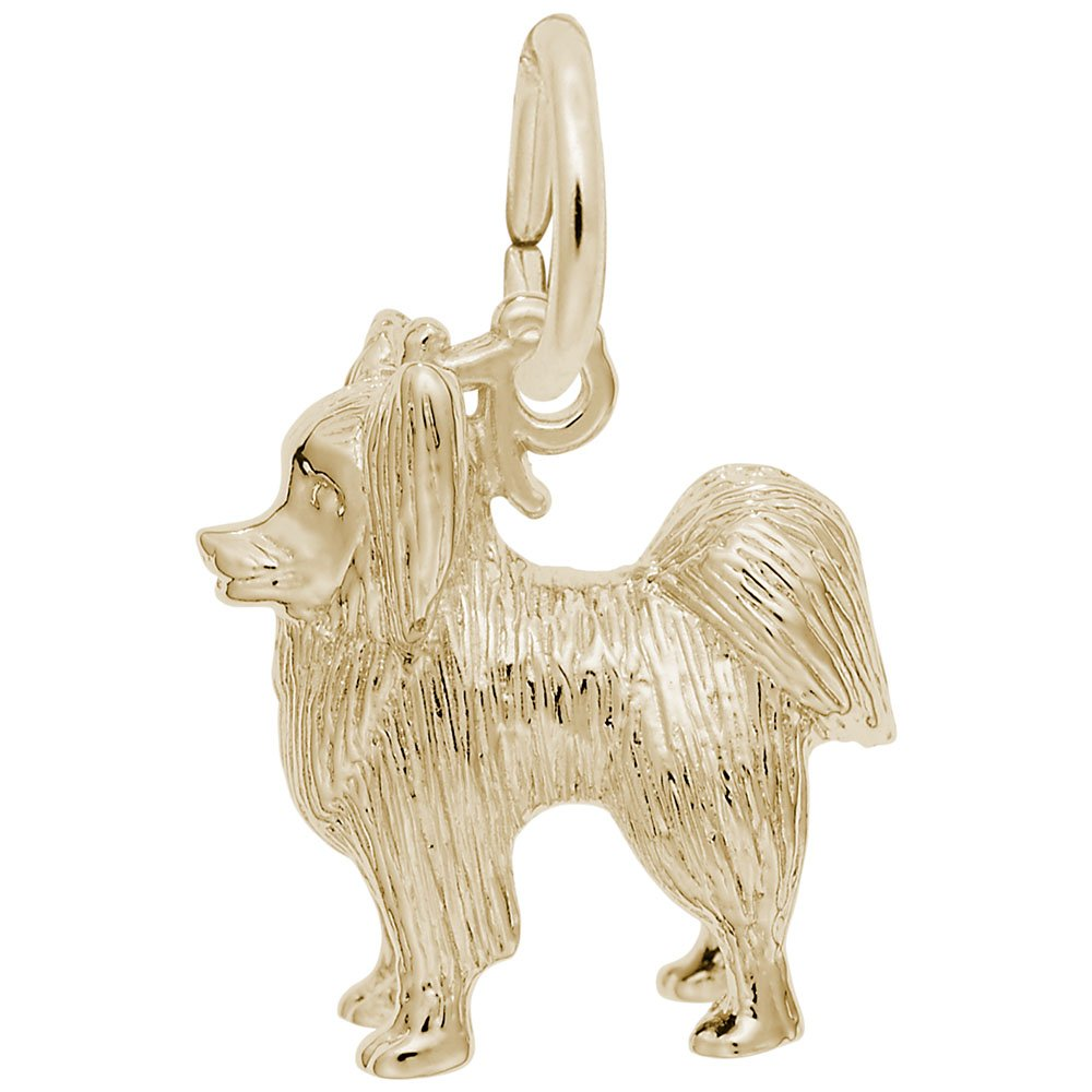 10k Yellow Gold Dog Charms for Bracelets and Necklaces Papillon Charm