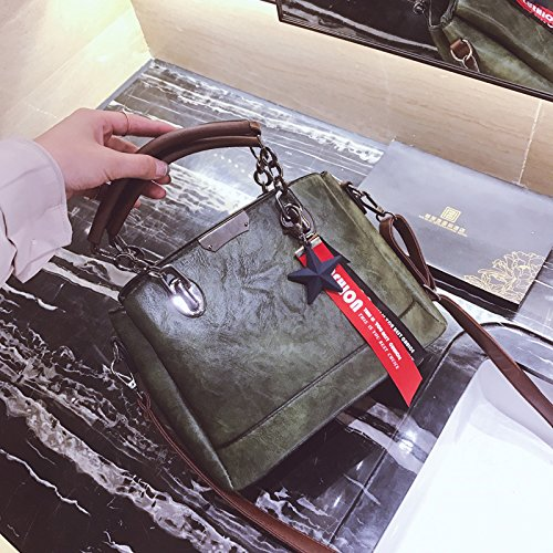 dama hombro XWAN coreana green moda solo nuevo Bolso negro de gOwZwqxA1