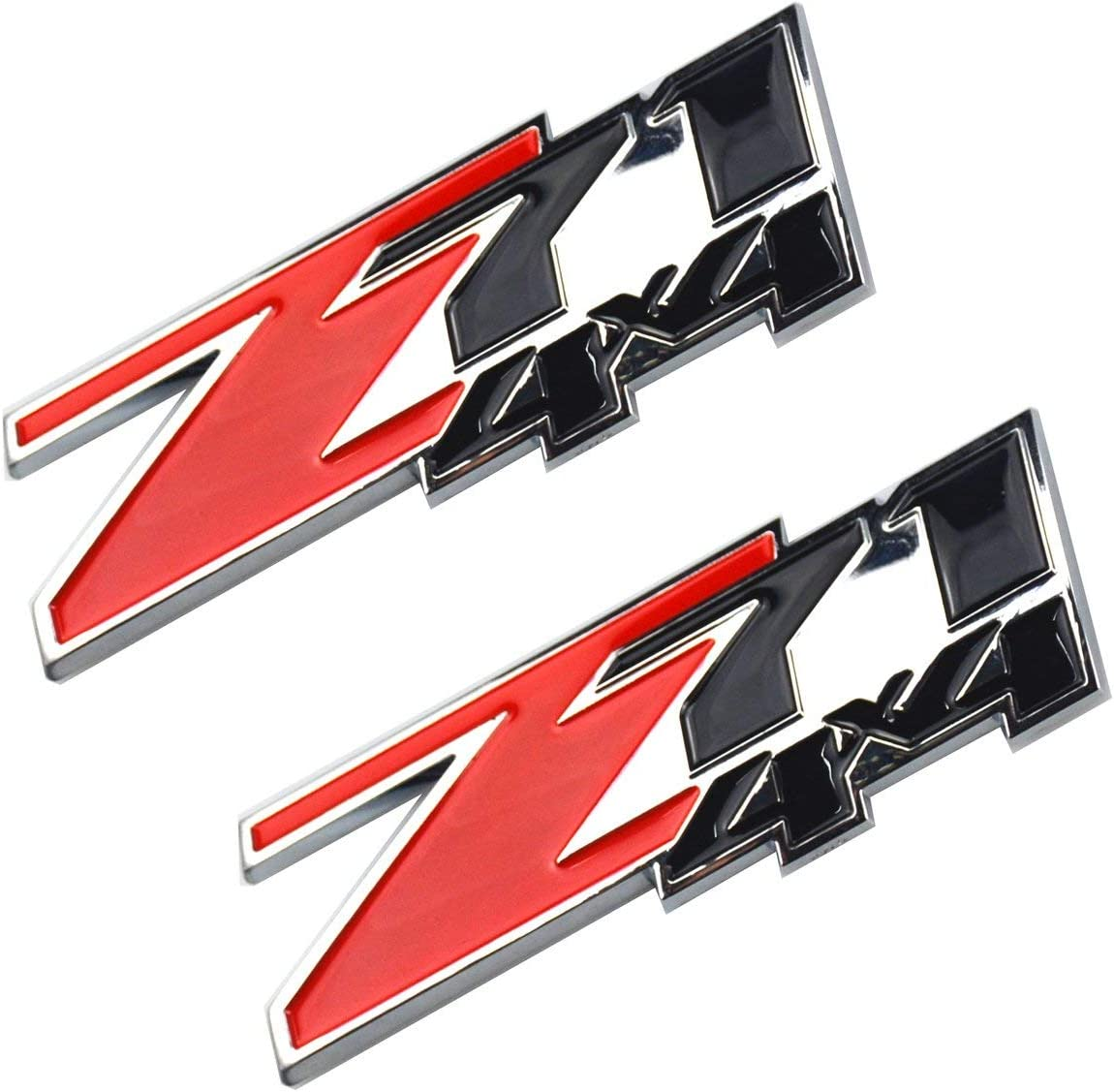 3D ABS Decal Emblems for Chevy GMC Silverado Z71 4x4 Emblems Badges Red Black