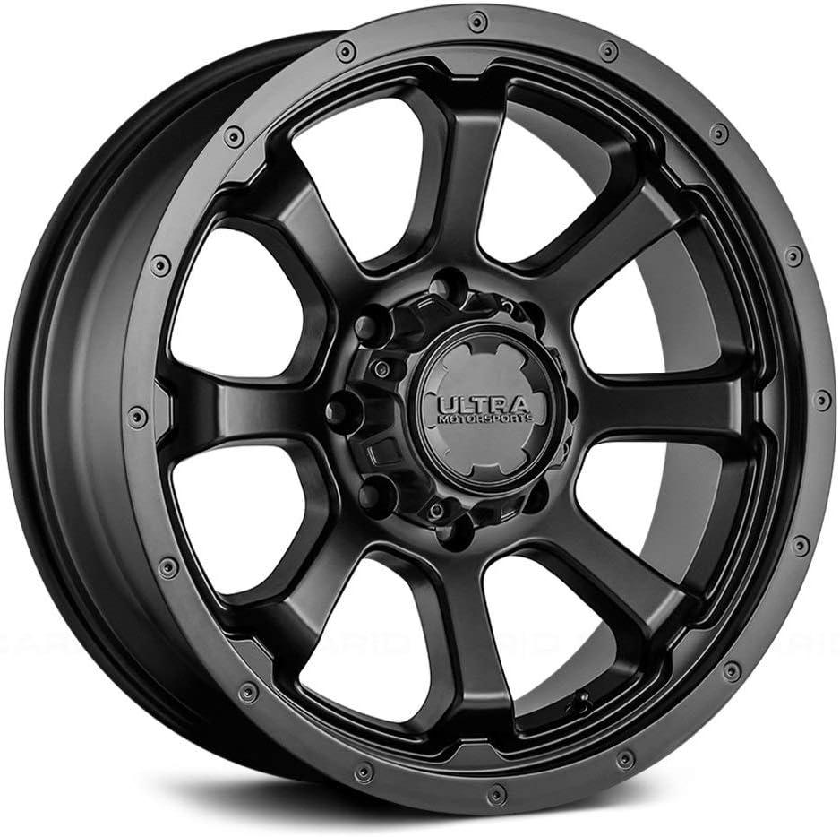 "17/"" Inch Ultra 221BM Carnage 17x9 5x5.5/"" 12mm Black//Milled Wheel Rim"