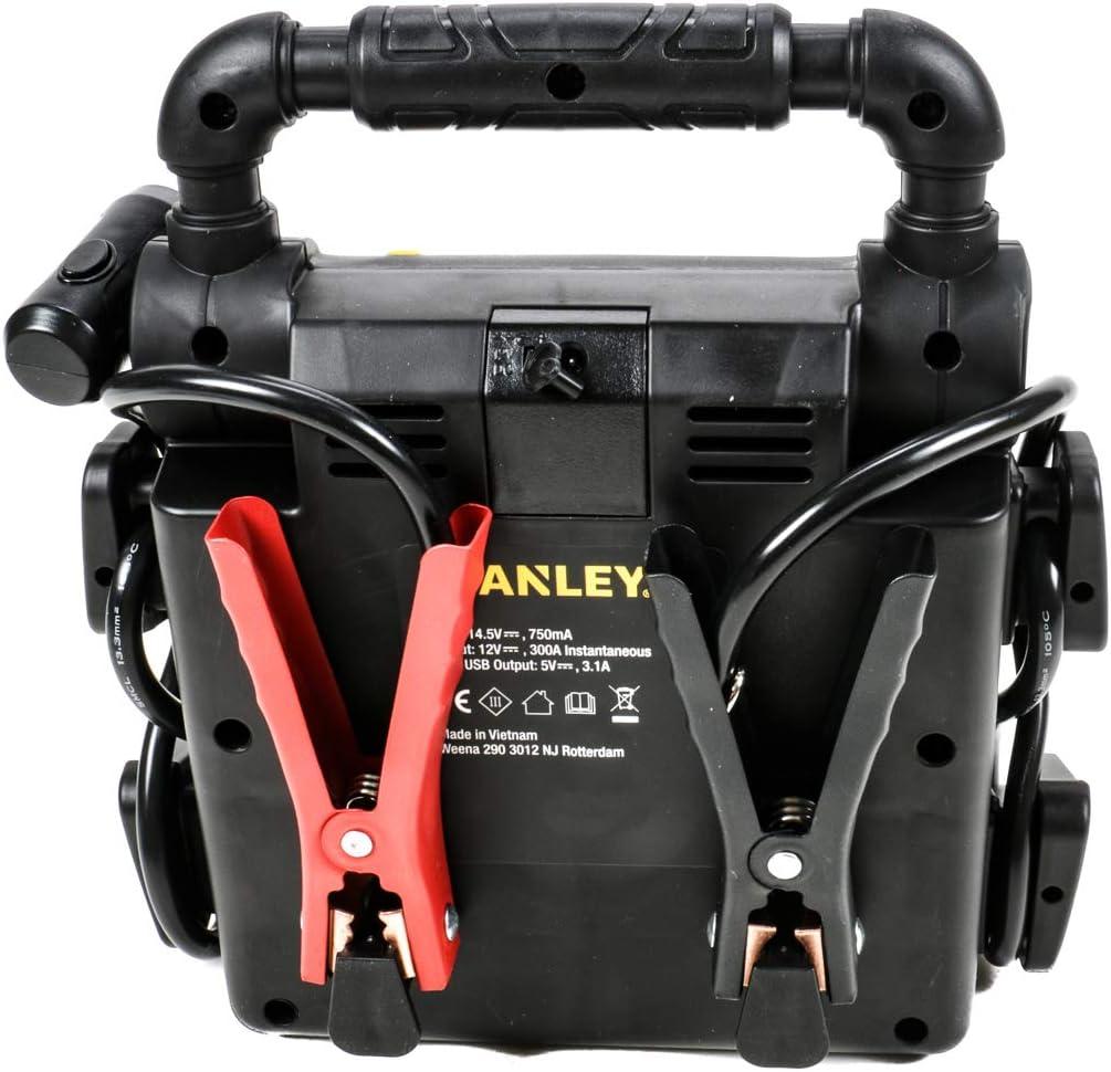Starthilfegerät 12v 300a Für Auto Und Motorrad Benzin Diesel Netzladeadapter 3 Usb Eingänge Verpolungs Und Batterieladestatus Anzeige 270 Led Schwenklicht Auto