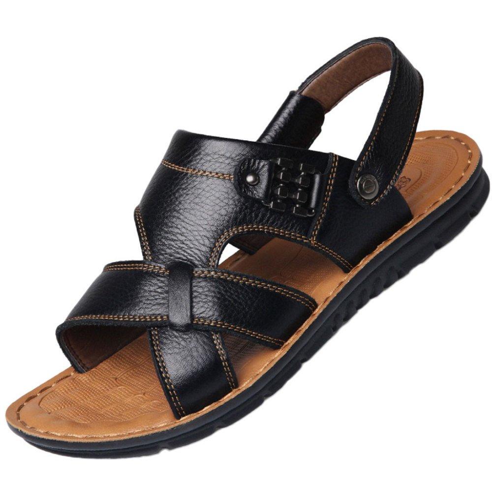 Movimiento Sandalias Al Aire Libre Hombres De Verano Zapatos De Playa Ocio De Cuero Transpirable Antideslizante Zapatos De Viaje En Los Pies 41 EU|C
