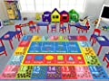 KC CUBS Playtime Collection Math Symbols, Numbers and Shapes Educational Learning Area Rug Carpet for Kids and Children Bedroom and Playroom