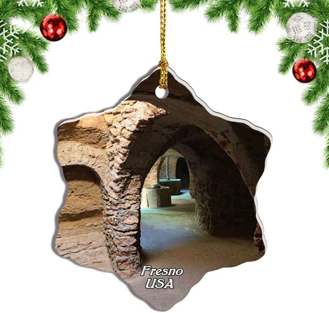 Weekino USA America Fresno Forestiere Underground Gardens California Christmas Ornament Travel Souvenir Tree Hanging Pendant