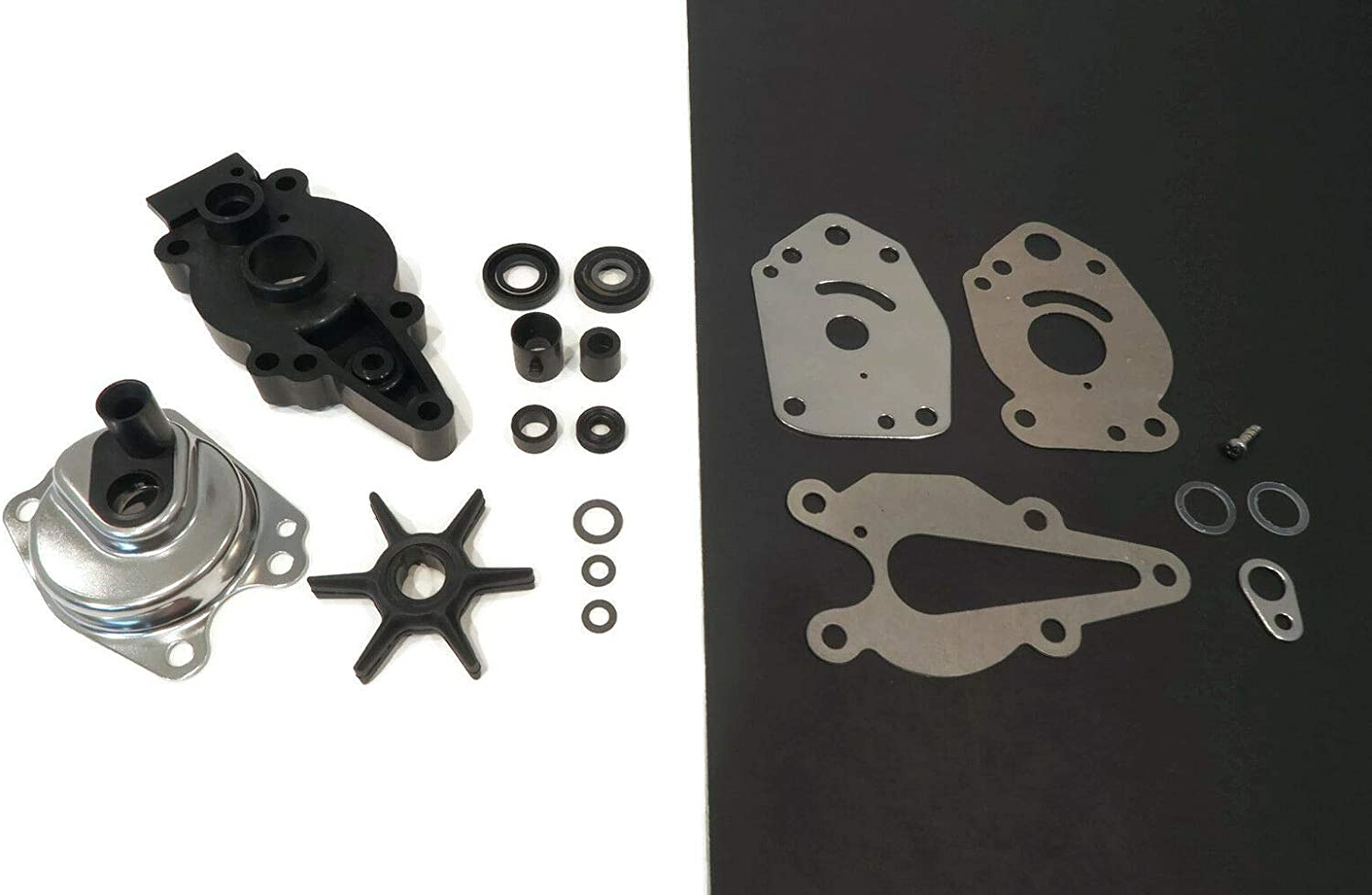 The ROP Shop | Water Pump Kit for 1990, 1991, 1992, 1993 Mercury 2-Stroke, 10 Mag 0D038000 & Up