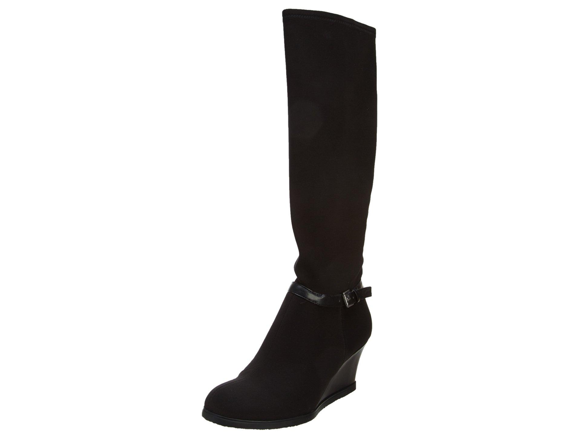 Ralph Lauren Tula Tall Wedge Boots - Black - Womens - 9.5