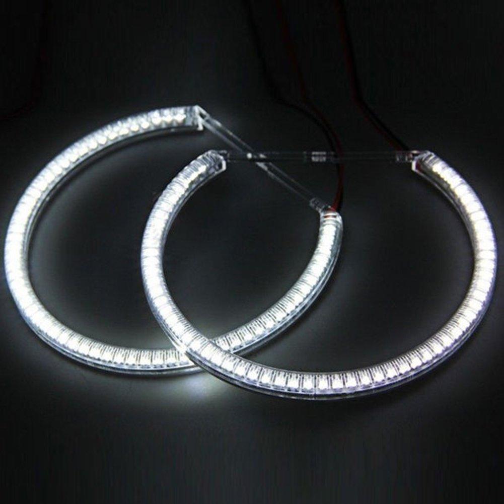 hongfei Auto CCFL Angel Eye Halo Ringe Licht Scheinwerfer Lampens/ätze Kitsfor E36 3 E38 7 E39 5 E46 3er Kaltkathode DC 12V Wei/ß