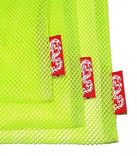 Label Mesh Yellow with Dragon Stopper Fluorescence Bag purpose Multi SET q5wxxdzSA