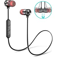Tiswaq Wireless Bluetooth Headphones, Headset with Mic and Sound Button Earphone for Mi Note 5/6/7 Pro, 6A, Y2, A2, A1, Y3 (Black)