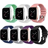 ISENXI Compatible for Fitbit Versa Bands,Soft Silicone Replacement Wristband Compatible with Fitbit Versa Smart Watch