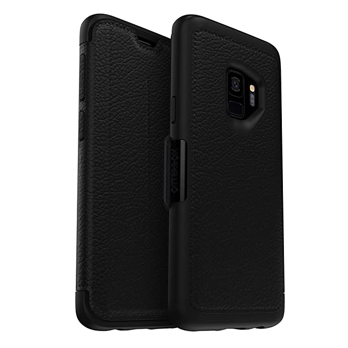 info for 0bad2 f5dc3 OtterBox Strada Series Case for Samsung Galaxy S9 - Frustration Free  Packaging - Shadow (Black/Pewter)